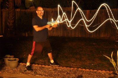 Lasergun Light Painting