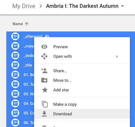 Selecting Files With Google Docs