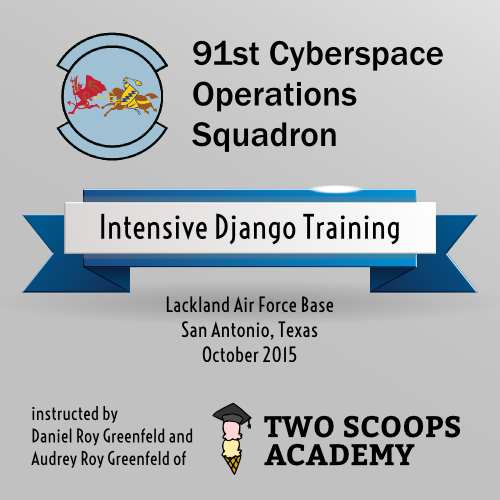 Two Scoops Academy 91st COS Django Training